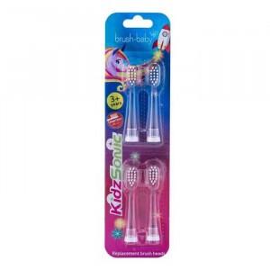 Brush Baby Kidzsonic Unicorn & Rocket Tandenborstelkopjes Refill +3 jaar (4-pack)