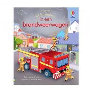 Usborne Flapjesboek - Kijk binnen in een brandweerwagen