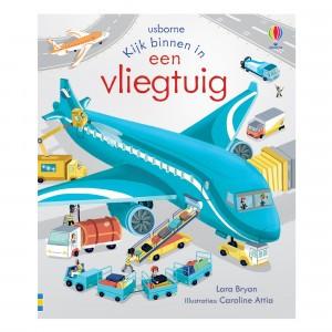 Usborne Flapjesboek - Kijk binnen in een vliegtuig