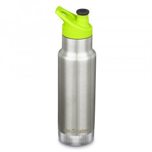 Klean Kanteen Thermische Drinkbus Kind Insulated met Sport Cap (355ml) Brushed Stainless