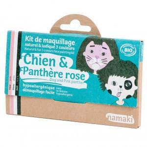"Namaki Grimeerverf  Kit 3 Kleuren ""Hond & Pink Panther"""