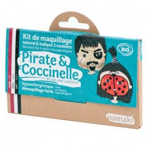 """Namaki Grimeerverf  Kit 3 Kleuren """"Piraten & Lieveheersbeestje"""""""