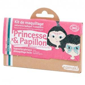 """Namaki Grimeerverf  Kit 3 Kleuren """"Prinses & Vlinder"""""""