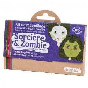 "Namaki Grimeerverf  Kit 3 Kleuren ""Heks & Zombie"""