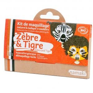 "Namaki Grimeerverf  Kit 3 Kleuren ""Zebra & Tijger"""