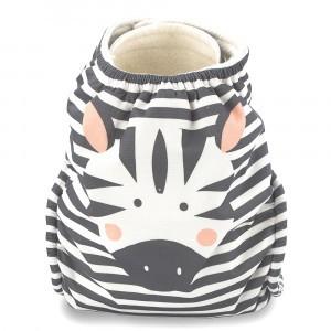 Kit & Kin One Size Luier Velcro Zebra (+4kg)