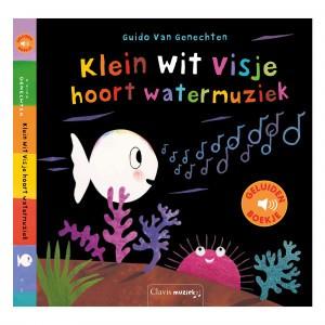Clavis Geluidenboekje Klein wit visje hoort watermuziek