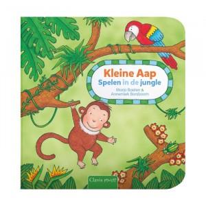 """Clavis Kartonboek Kleine Aap """"Spelen in de jungle"""""""