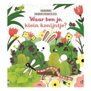 Usborne Doorkijkboekje Waar ben je klein konijntje?