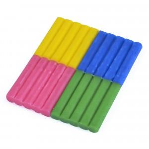 Les Jouets Libres Bijenwas Klei: Blauw, Roze, Groen, Geel (200 g)