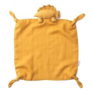 Liewood Knuffeldoekje Dino Yellow Mellow