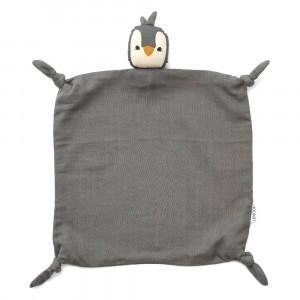 Liewood Knuffeldoekje Penguin Stone Grey