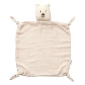 Liewood Knuffeldoekje Polar Bear Sandy