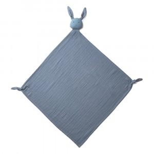 Liewood Knuffeldoekje Robbie Rabbit Blue Wave
