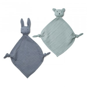 Liewood Yoko Mini Knuffeldoekje (2-pack) Blue Mix