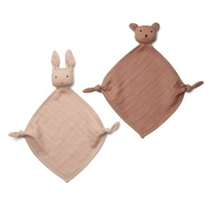 Liewood Yoko Mini Knuffeldoekje (2-pack) Rose Mix