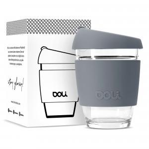 Doli Glazen Koffiebeker (340 ml) Grey