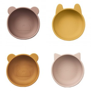 Liewood Silicone Kommetjes Rose Mix (4 pack)