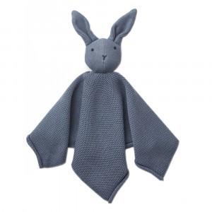 Liewood Knuffeldoekje Knit Konijn Blue Wave