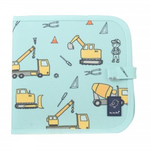 Jaq Jaq Bird Krijtkleurboekje 'Construction'