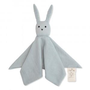Konges Slojd Knuffeldoekje Sleepy Rabbit Blue Fog