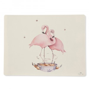 Konges Slojd Silicone Placemat Nature/Flamingo