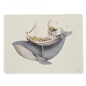 Konges Slojd Silicone Placemat Nature/Whale