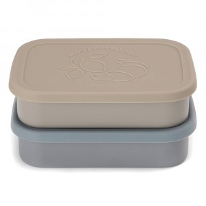 Konges Slojd Foodbox Square (2-pack) Blue