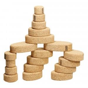 Korxx Kurk Blokken Kuller Starter - 20 ronde bouwvormen naturel