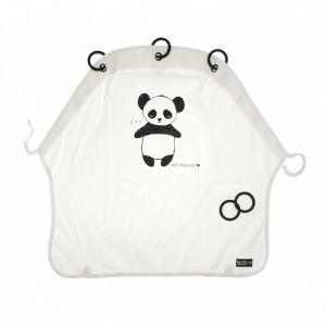 Kurtis Autostoel en Kinderwagen Gordijntje Panda Black & White