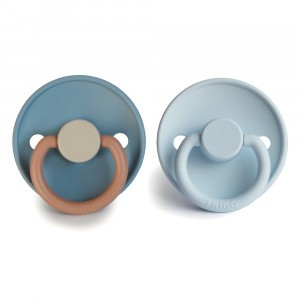 Frigg Fopspeen Fysiologisch Silicone 6-12 maanden (2-pack) Colorblock Breeze/Baby Blue