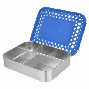 LunchBots Bento Cinco Dots Blauw