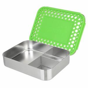 LunchBots Bento Trio Dots Groen