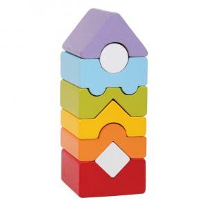 Cubika Houten Blokken Toren (8 stuks)