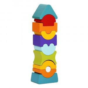 Cubika Houten Blokken Scheve Toren (10 stuks)