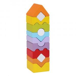 Cubika Houten Blokken Toren (12 stuks)