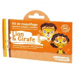 "Namaki Grimeerverf  Kit 3 Kleuren ""Leeuw & Giraf"""