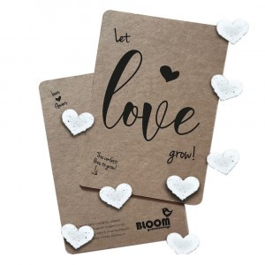 "Bloom Your Message Postkaart Confetti ""Let Love Grow"""