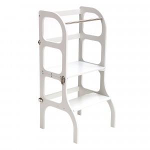 Ette Tete Keukenhulpje 'Helper Tower - table Step'n Sit' Gray/Silver