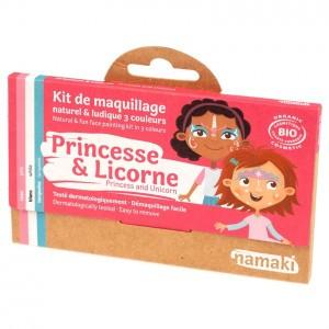 """Namaki Grimeerverf  Kit 3 Kleuren """"Prinses & Eenhoorn"""""""