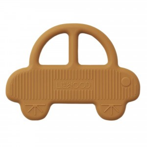 Liewood Silicone Bijtring Car Mosterd