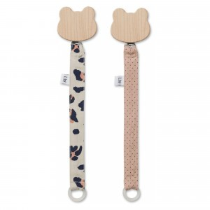 Liewood Fopspeenketting Leo Beige Beauty (2 pack)