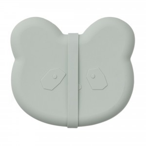 Liewood Silicone Lunchbox Panda Dusty Mint