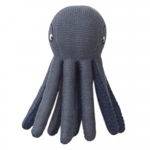 Liewood Knit Knuffeltje/Rammelaar Octopus Blue Wave
