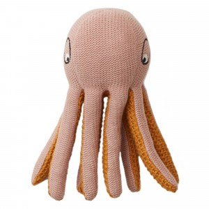 Liewood Knit Knuffeltje/Rammelaar Octopus Roze