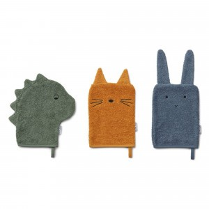Liewood Washandjes Dino Mix (3 pack)