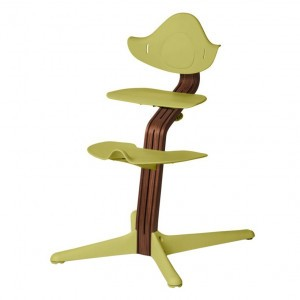 Nomi Highchair Lime / Oiled Walnut