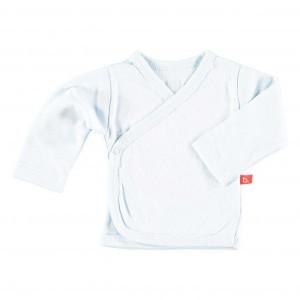 Limobasics Overslag T-shirt met lange mouwen Wit