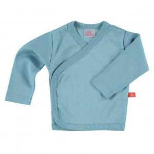 Limobasics Overslag T-shirt met lange mouwen Denim Blauw