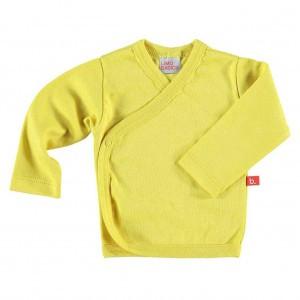 Limobasics Overslag T-shirt met lange mouwen Mosterd Geel